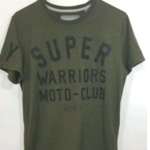 Superdry Warriors Biker Moto Club Olive Green Sz M